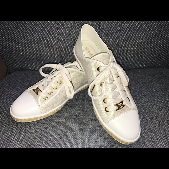 MICHAEL Michael Kors Shoes - Michael Kors Kristy Slide Sneakers Gold and Ivory
